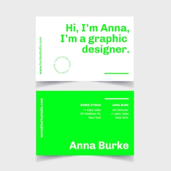 Neon color for business card