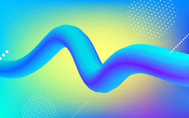 Неоновый цвет градиента модный 3d фон формы