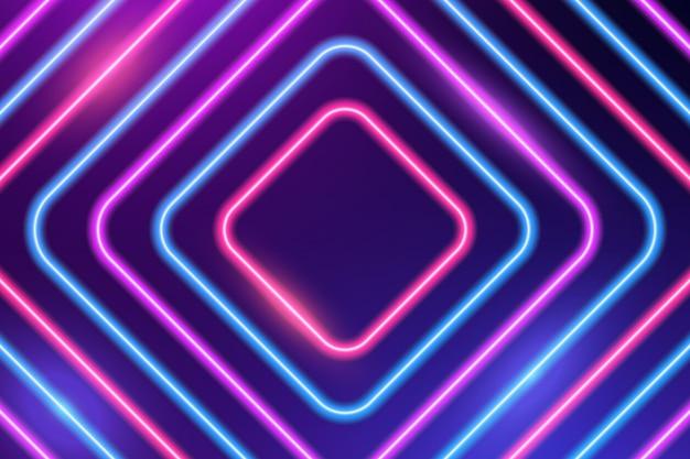 Неоновые красочные квадраты фон
