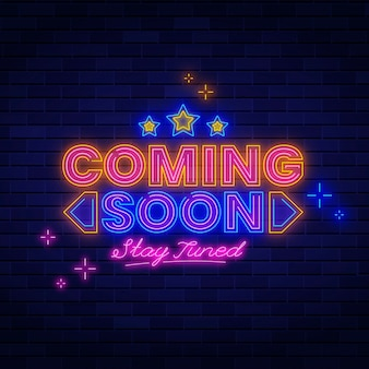 Neon coming soon background
