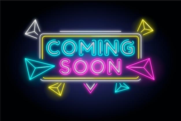 Neon coming soon wallpaper