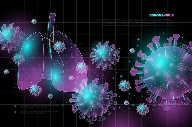 Concetto di coronavirus al neon
