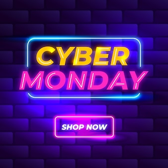 Neon cyber monday concet