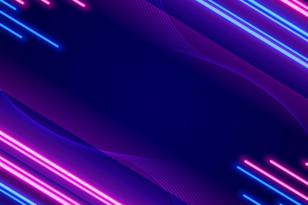 Neon design of colorful background