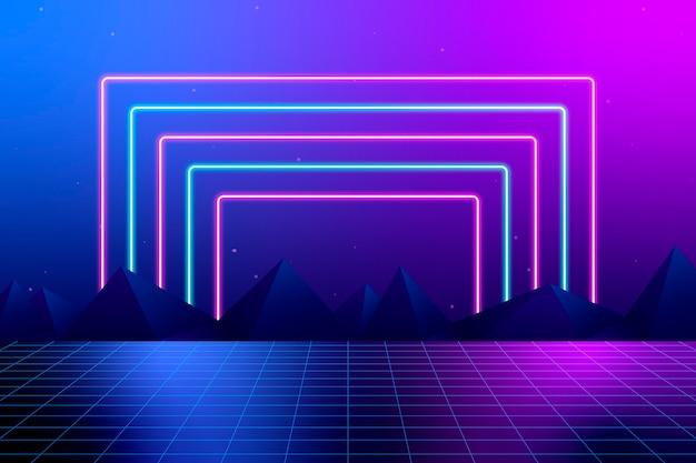 Design al neon di sfondo colorato