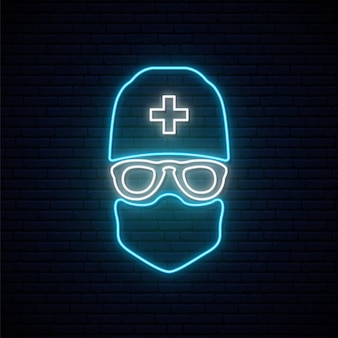 Neon doctor sign