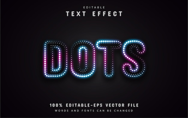 Neon dots text effect