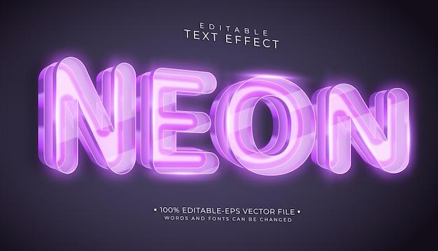 Neon editable text effect on wall