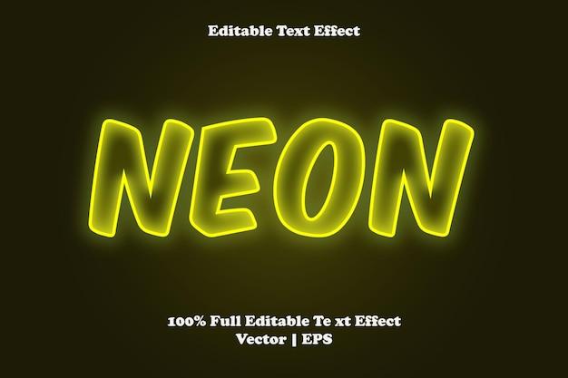 Неоновый редактируемый текстовый эффект
