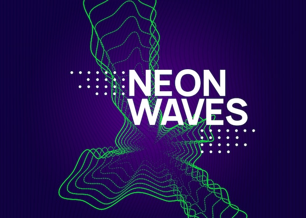 Neon edm background