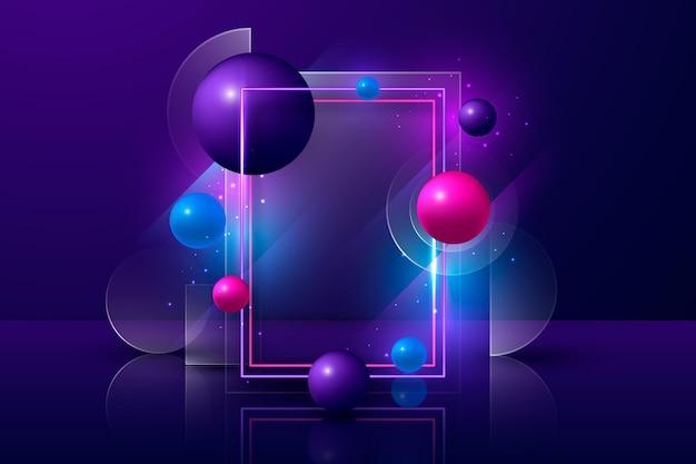Neon effect background design