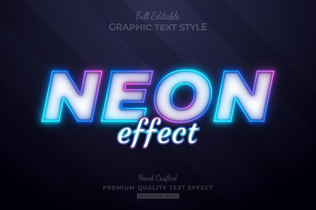 Neon effect colorful gradient editable premium text effect font style