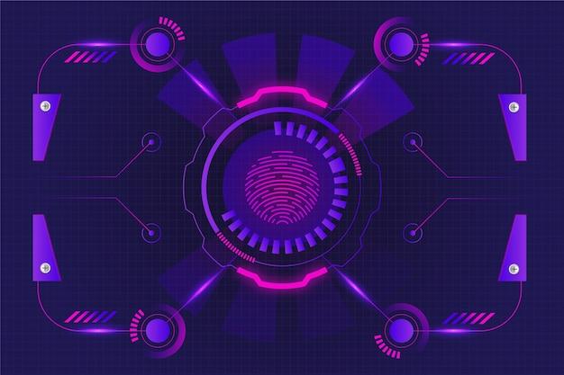Neon fingerprint background
