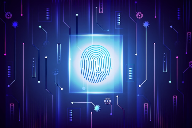 Neon fingerprint screensaver