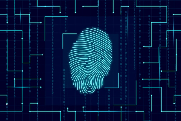 Neon fingerprint wallpaper