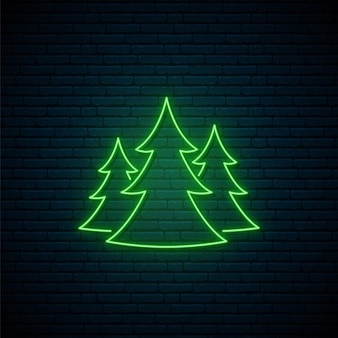 Неоновый лесной знак