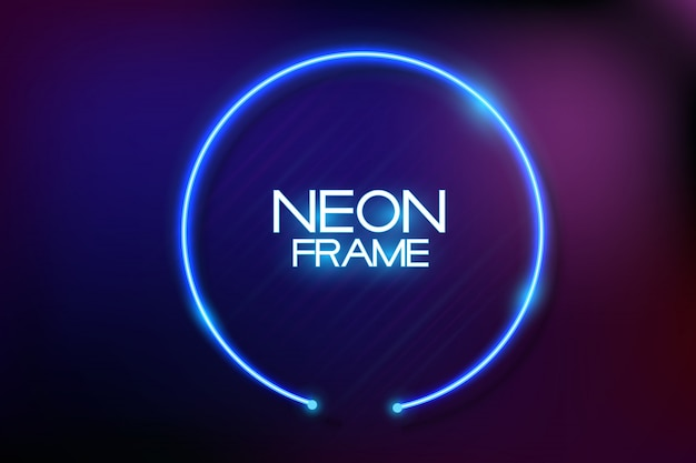 Neon frame background