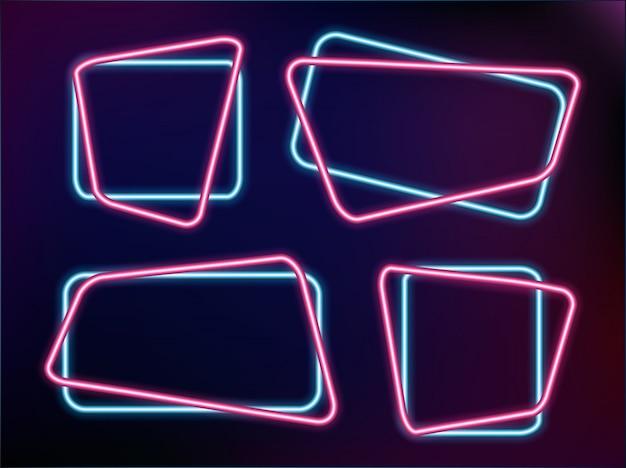 Абстрактный neon frame шаблон векторные иллюстрации