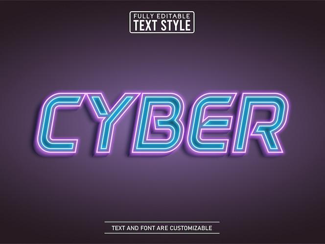 네온 futurustic cyberpunk 개요 빛나는 빛 텍스트 효과
