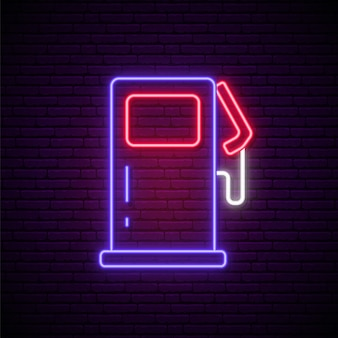 Neon gas station sign.