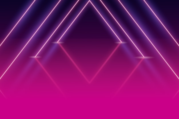 Neon geometric shapes background