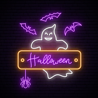 Neon ghost signboard