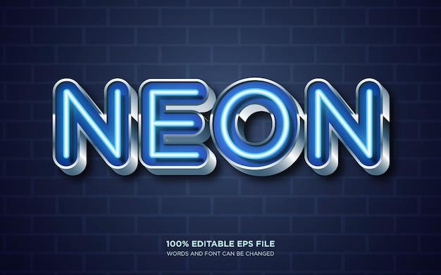 Редактируемый эффект стиля текста neon glow