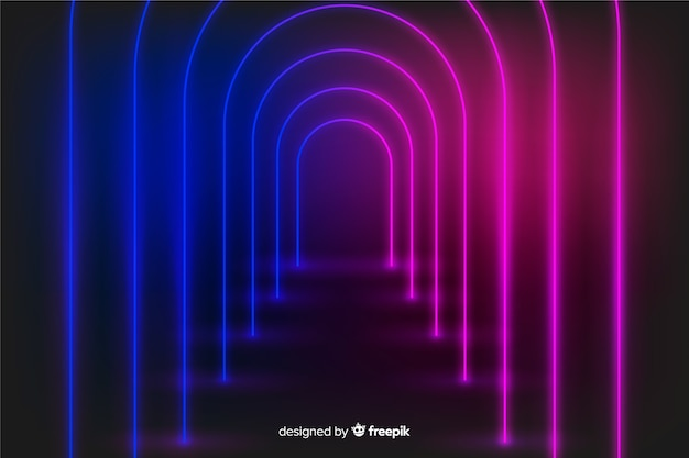 Neon glow lights stage background