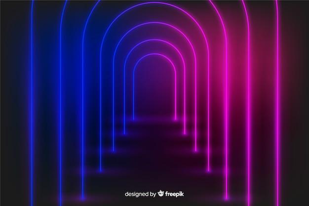 Luci al neon bagliore sfondo palco