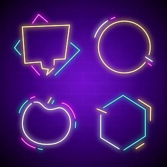 Collezione di cornici luminose al neon
