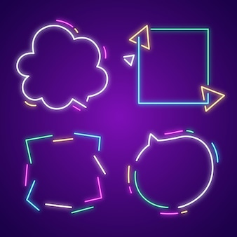 Neon glowing frame collection