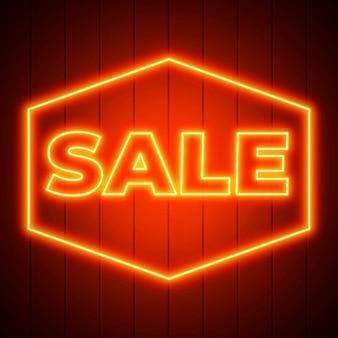 Insegna di vendita incandescente al neon