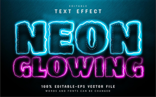 Neon glowing text effect