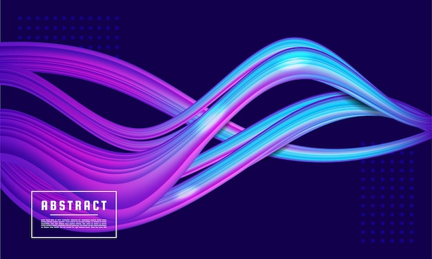 Неоновая светящаяся волна, волшебная энергия и легкий фон движения
