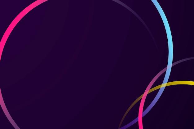 Neon gradient curve frame template
