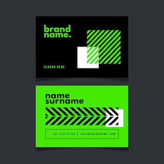 Neon green business card collection