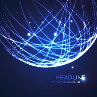 Neon grid globe background