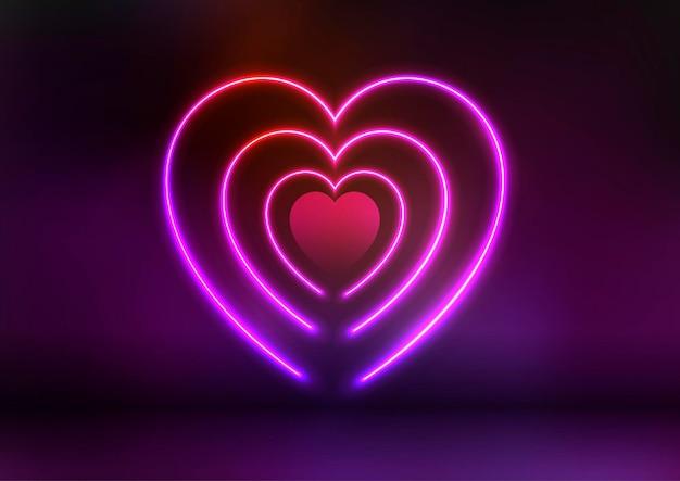 Неоновый дизайн сердца
