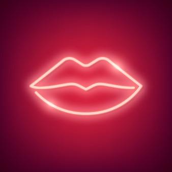 Illustrazione di cuore al neon