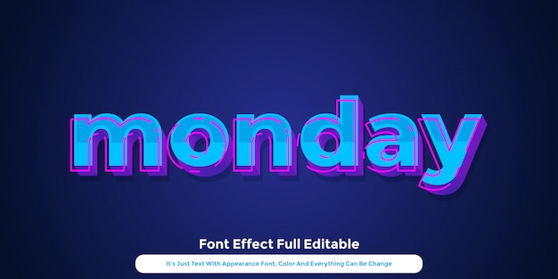 Neon hologram 3d text graphic style design