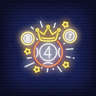 Neon icon of lottery winner