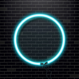 Neon lamp bulb banner.