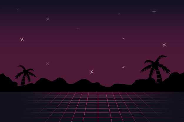 Neon landscape background