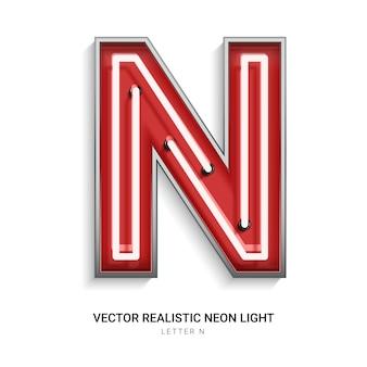 Neon letter n