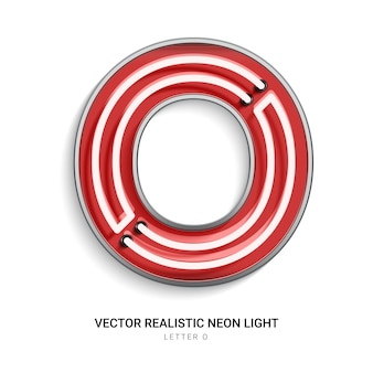 Neon letter o