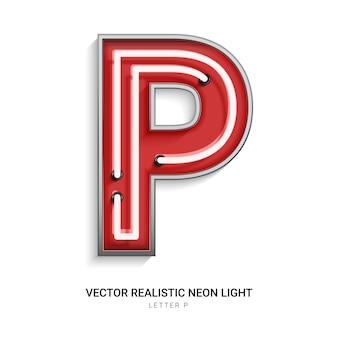 Neon letter p