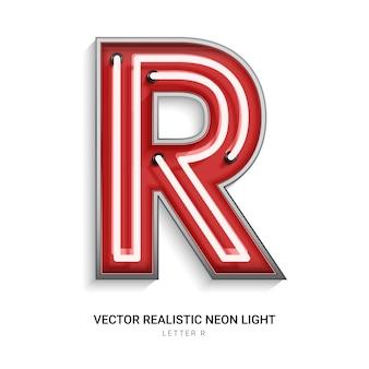 Neon letter r