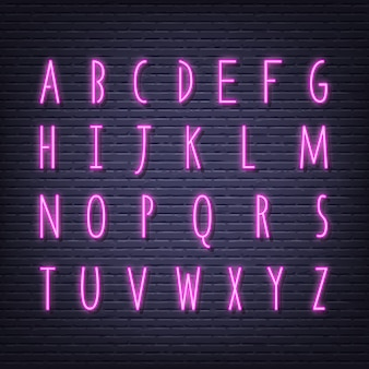 Neon letters signboard
