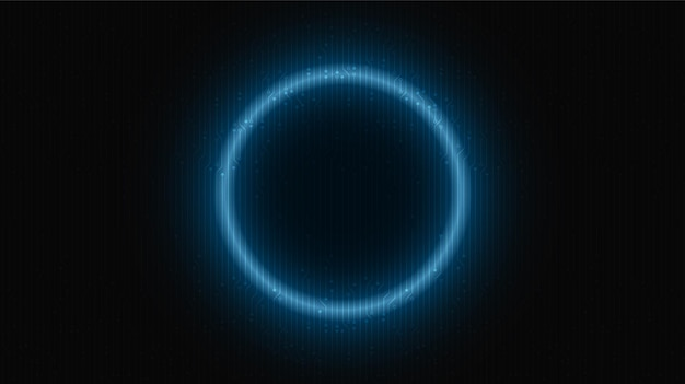 Neon light circle technology on future background,hi-tech digital and communication concept design,free space for text in put,vector illustration.
