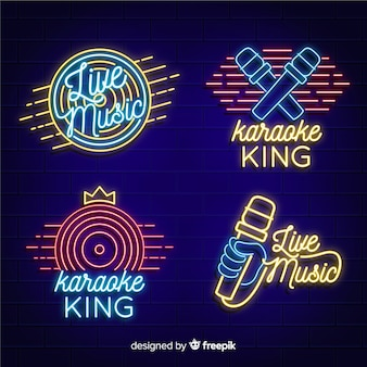Neon light collection with karaoke concept